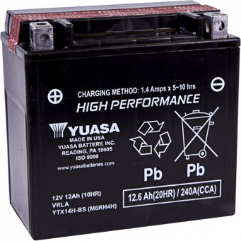 BATTERY YTX14H-BS .69LTR
