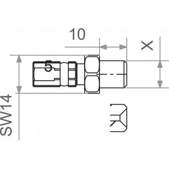KOŃCÓWKA PRZEWODU HAMULCOWGO 10x1.0 MALE GM