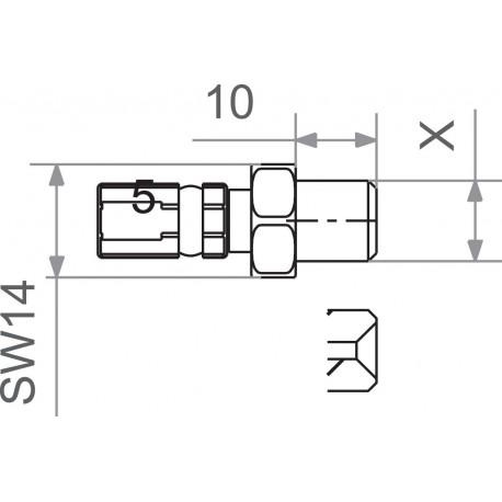 FIT M10x1.0 MALE GM