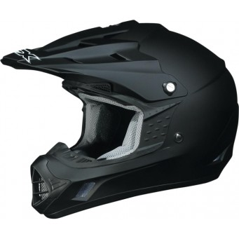 HELMET FX17 FLAT BLACK MD