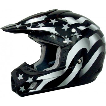 HELMET FX17 FLAG STLTH XL