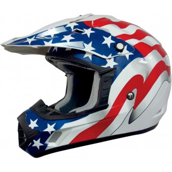 HELMET FX17 FLAG WHT MD