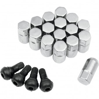 LUG NUT 3/8 CHROME 16PK